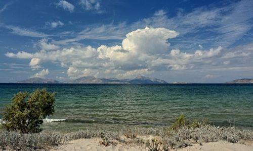 Zdjęcie GRECJA / Kos / Marmari / Panorama na wyspę Kalimnos