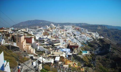 Zdjecie GRECJA / Santorini / Santorini / Torcik na skałach