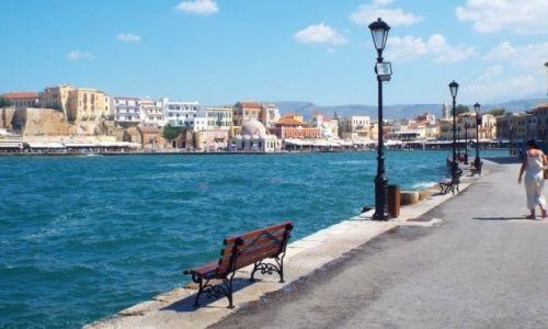 Zdjęcie GRECJA / Kreta / Chania / Lawka z widokiem