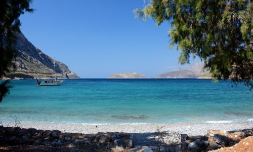 Zdjęcie GRECJA / Kalimnos / Arginonta / plaża - Arginonta