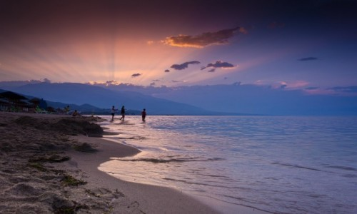 GRECJA / Macedonia / Nei Pori / zach�d nad Olimpem