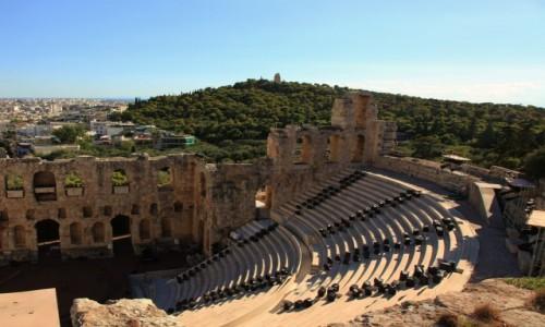Zdjecie GRECJA / Ateny / Akropol  / Odeon Heroda Attyka, z prawej strony