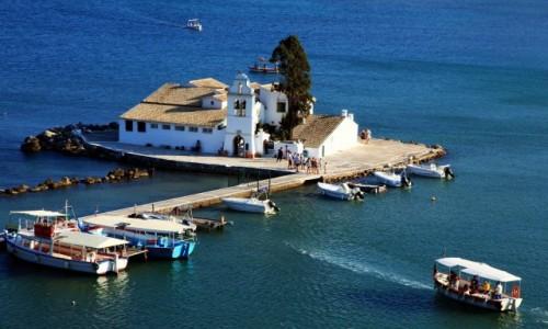 Zdjęcie GRECJA /  Morze Jońskie / Korfu / Klasztor Vlacherna