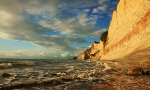 Zdjęcie GRECJA / Korfu / Logas Beach / Klify