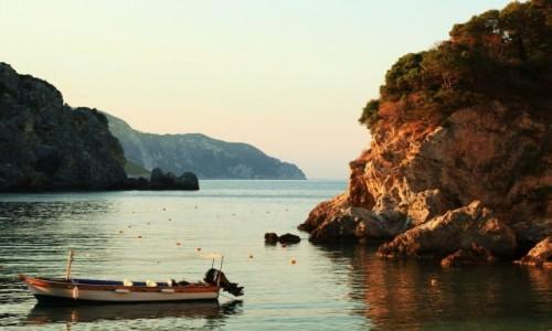 Zdjęcie GRECJA / Korfu / Paleokastritsa / O wschodzie słońca