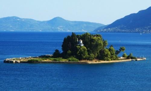 Zdjęcie GRECJA / Korfu / Zatoka Kanoni /  Pontikonissi, czyli Mysia Wyspa