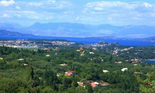 Zdjecie GRECJA / Korfu / Achilleion, pa�ac Cesarzowej Sissi / Widok na Korfu