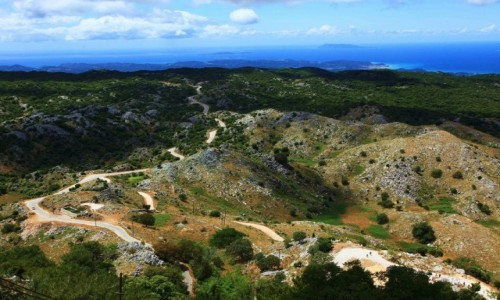 GRECJA / Korfu / G�ra Pantokrator (906 m npm.) / Droga na szczyt