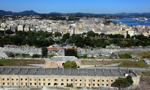 Zdjęcie GRECJA / Korfu / Stara Forteca / Panorama miasta