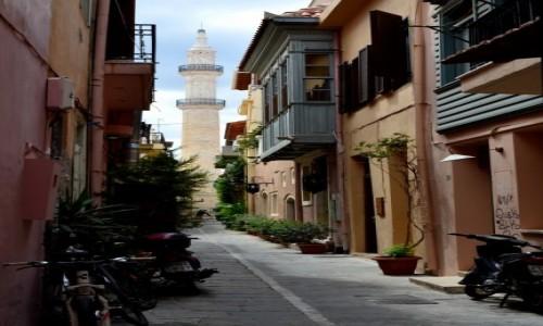 Zdjecie GRECJA / Kreta / stare Retimno / meczet minaretu