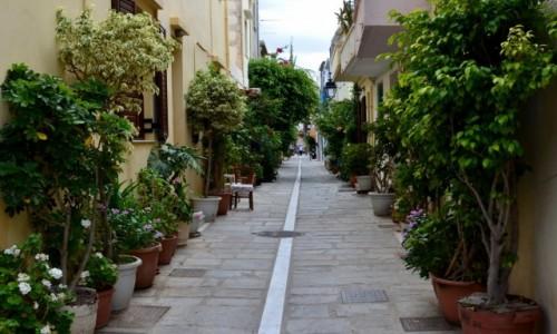 Zdjecie GRECJA / Kreta / Retimno / uliczne ogrody