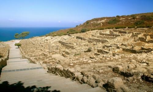 Zdjecie GRECJA / Rodos / Zachodni  brzeg wyspy Rodos / RUINY KAMIROS