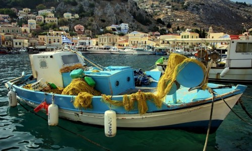 Zdjęcie GRECJA / Dodekanez / Symi / port