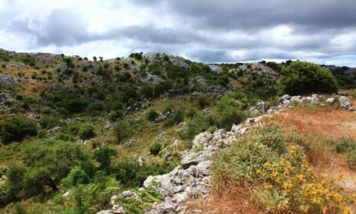 Zdjęcie GRECJA / Korfu / Góra Pantokrator / Kamieniste zbocze