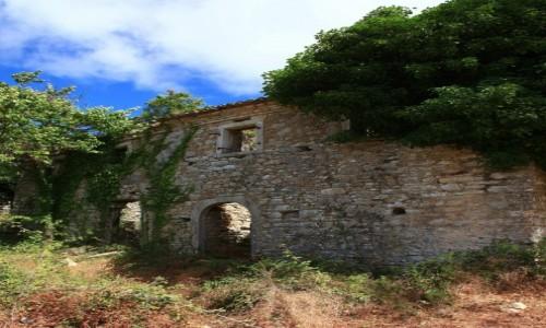 Zdjęcie GRECJA / Korfu / Perithia / Średniowieczne domostwa we władaniu przyrody