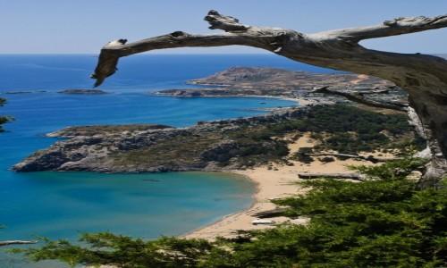 Zdjecie GRECJA / Rodos / Tsampika / Tsampika Beach widziana z klasztoru na wzgórzu