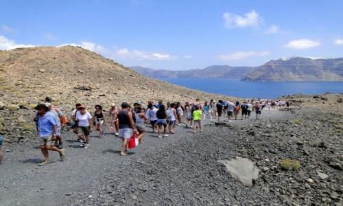 GRECJA / Archipelag Santorini / Nea Kameni / Deptanie po wulkanie :)