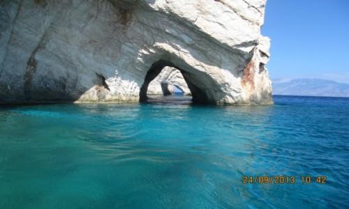 Zdjecie GRECJA / Zakynthos / Morze Jońskie / Urokliwe wytwory skalne