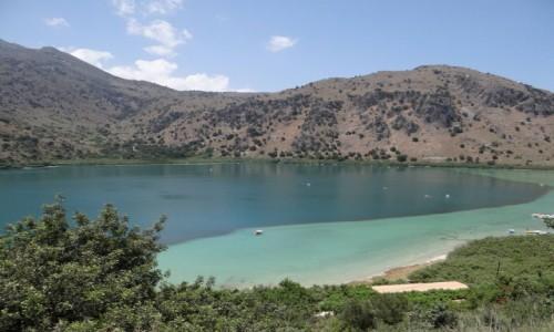 GRECJA / Kreta / Georgioupoli. / Jezioro Kournas.