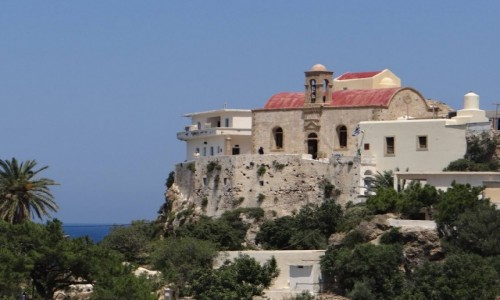 Zdjęcie GRECJA / Kreta / niedaleko Elafonissi / Klasztor Chryssoskalitissa