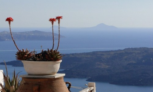Zdjecie GRECJA / Santorini / Fira / Widok na kalder