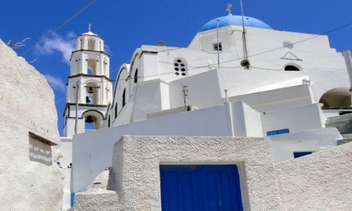 Zdjecie GRECJA / Santorini / Pyrgos / Santoryńskie kl