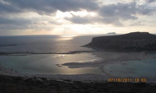 Zdjęcie GRECJA / Kreta / Balos Beach / Zachód słońca Balos Beach
