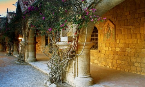 Zdjecie GRECJA / Rodos / Lalyssos / Klasztor Fileri