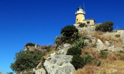 Zdjęcie GRECJA / Korfu / Stara Forteca  / Latarnia morska