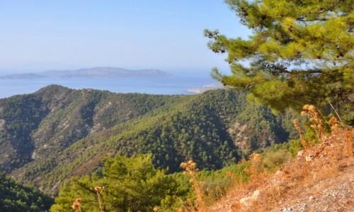 GRECJA / Rodos / zachodnie wybrzeże / Widok