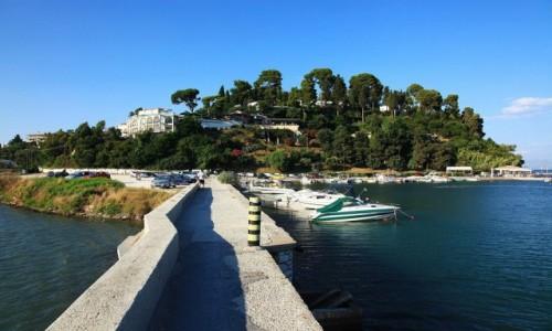 Zdjęcie GRECJA / Korfu / Zatoka Kanoni / Grobla
