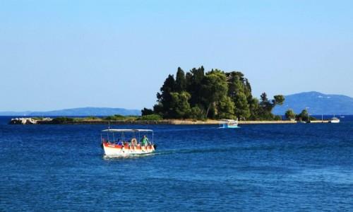 Zdjecie GRECJA / Korfu / Zatoka Kanoni / Żegluga