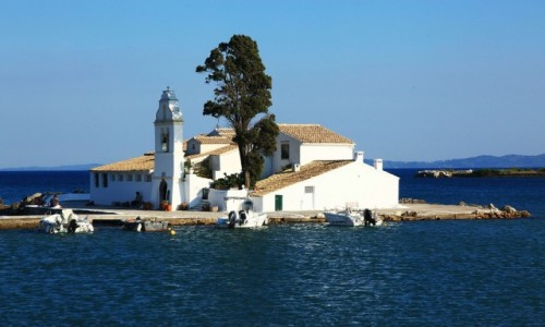 Zdjecie GRECJA / Korfu / Zatoka Kanoni / Klasztor Vlache