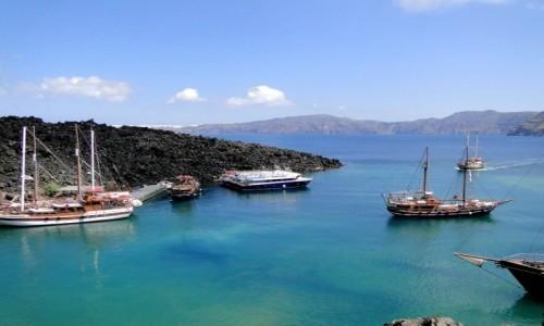 Zdjecie GRECJA / Santorini / Nea Kameni / Santoryńskie wi