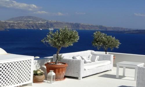 Zdjecie GRECJA / Santorini / Oia / Tylko usiąść i