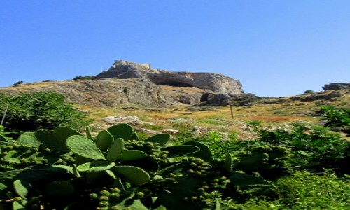 GRECJA / Rodos / Lindos / Opuncje pod Akropolem