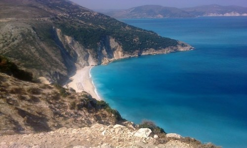 GRECJA / Kefalonia / Myrtos / Plaża Myrtos