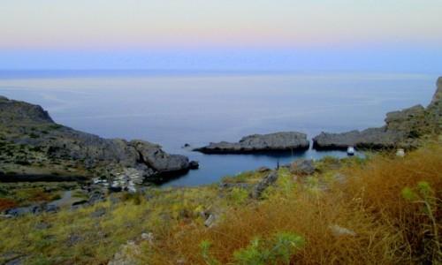 Zdjecie GRECJA / Rodos / Lindos / Zatoka św. Pawła z drugiej strony