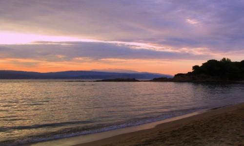 GRECJA / Skiathos / Banana Beach / ~Zachód słońca na Banana Beach