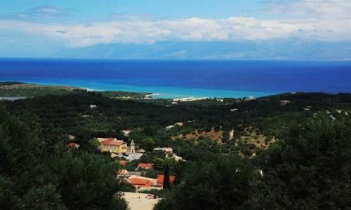 Zdjęcie GRECJA / Korfu / Perithia / Zieleń i błękit