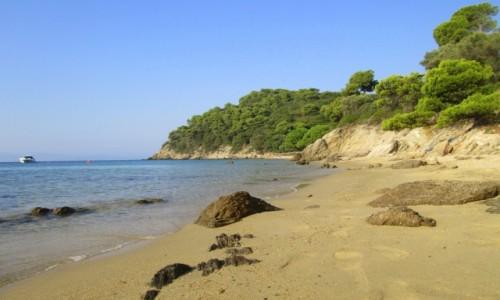 Zdjęcie GRECJA / Skiathos / Kukunaries / Dzika zatoczka koło Kukunaries