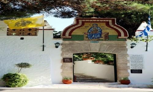 GRECJA / Paleokastritsa / Klasztor Moni Theotokou  / Brama