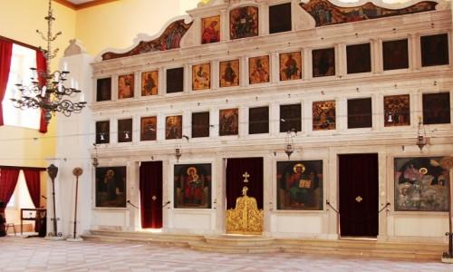 GRECJA / Korfu / Stara forteca / Kościół św. Jerzego, ikonostas