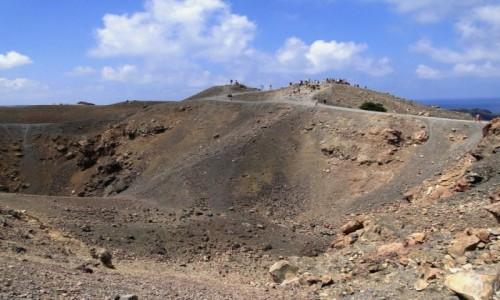 GRECJA / Santorini / Nea Kameni / Na wulkanie.