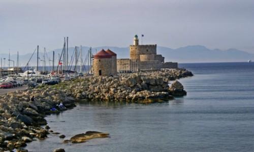 Zdjecie GRECJA / Dodekanez / Port Mandraki / Rodos