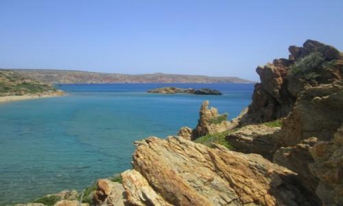 Zdjęcie GRECJA / Kreta Wschodnia / Vai / Z góry na błękity