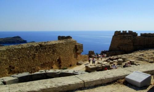 Zdjęcie GRECJA / Rodos / Lindos / Na Akropolu w Lindos