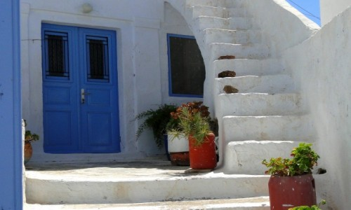 GRECJA / Santorini / Pyrgos / Wspomnienie z Santorini.