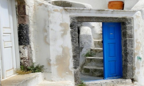 Zdjecie GRECJA / Santorini / Pyrgos / Z serii: santoryńskie zakamarki.