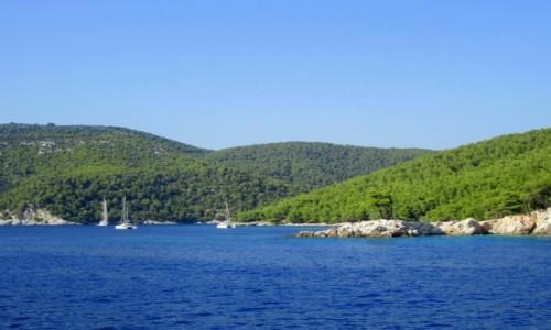 Zdjęcie GRECJA / Skopelos / część zachodnia Skopelos / Niebieskie wody opływające Skopelos